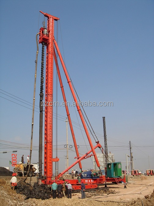 CFG 30 walking piling frame spiral drill rig with power head for geotechnical drilling