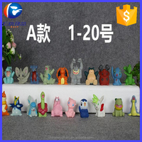 20pcs /set Hot cute 3D PVC pokemon mini action figures anime cartoon figure for pokemon pencils