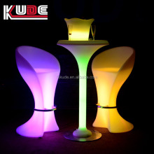 modern hotel illuminated bar table/ LED light furniture wholesale