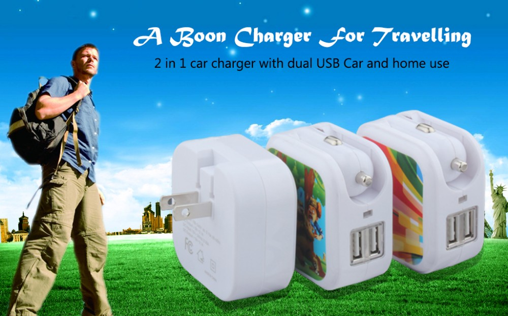 5V 3.1A portable 2 USB Ports car charger for iPhone
