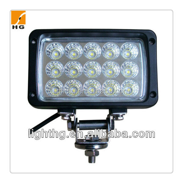 "45W 6.3"" square off road headlight led, agriculture tractor working flood light"