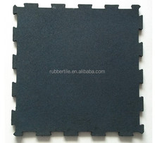 Golden supplier interlock gym rubber flooring / crossfit rubber tile