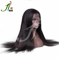 Wholesale Price Cheap Good Quality Peruvian Virgin Remy Silky Straight 100 Percent Human Hair Full Lace Wig For Black Women