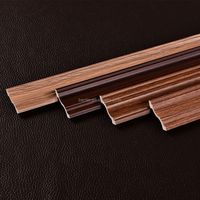 Classic wood grain PVC decorative cornice for modern house ceiling