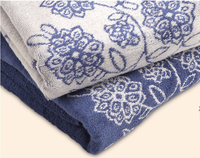 "Alibaba China Home Designs ""Blue and White Porcelain"" Design Jacquard Cotton Towel for Home"