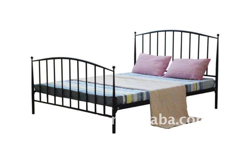Easy design strong structure iron double bed