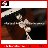 Fashion headphone jack dust plug anti dust plug pearl dust plug