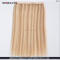 Best Quality Virgin Remy remy human hair silky straight weave halo hair fish line