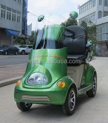4 wheel electric scooter for elder, disabled mobility Green