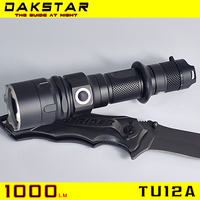 DAKSTAR Hot Selling TU12A 1000LM 18650 Aluminum Side Switch Stepless Diming Professional Police Flashlight