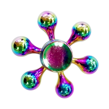 Colorful Six Drops Leaves Finger Fidget Spinner Toy Stress Reducer Anti-Anxiety Toy