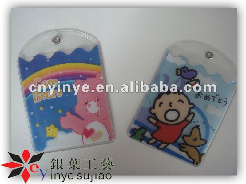 Cheap Super Cute Cartoon Photo PVC Card Bag /Card Holder for Kids