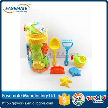 Various shapes plastic mold sand beach toys for kid 7pcs