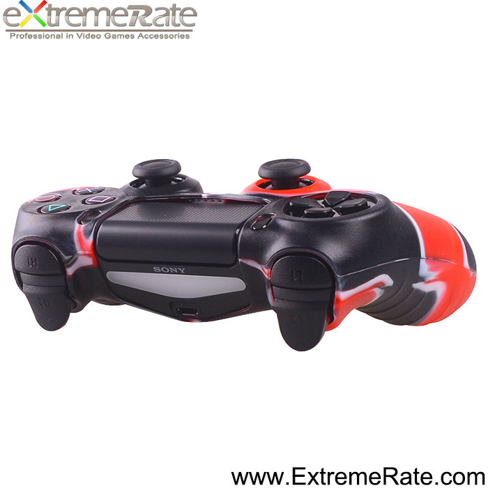 Wholesale For PS4 Controller Silicone Black Red Case Skin