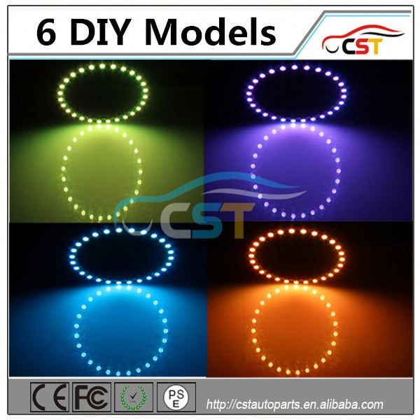 For toyota prius head light RGB COB 60 40 50 mm 5050 smd angle eyes halo rings halo kits Car Angle Eyes Light