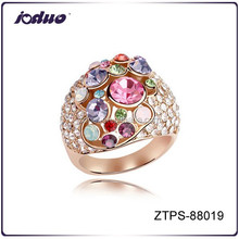 Embellishment colorful weeding rings design for women