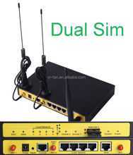 Support two sim online Load balancer F3946 dual module dual sim 4g lte router