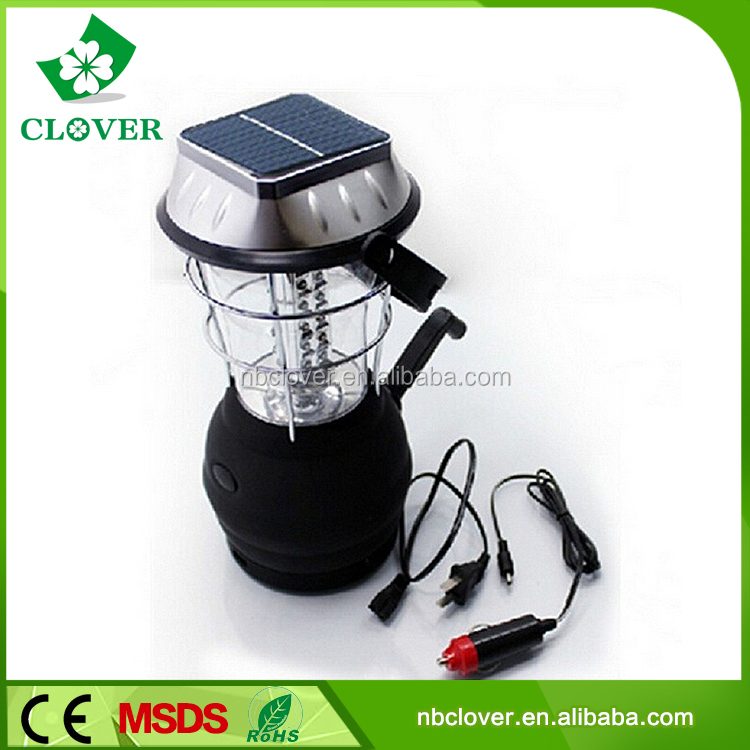 36 LED camping tent light hand crank outdoor using rechargeable solar camping light