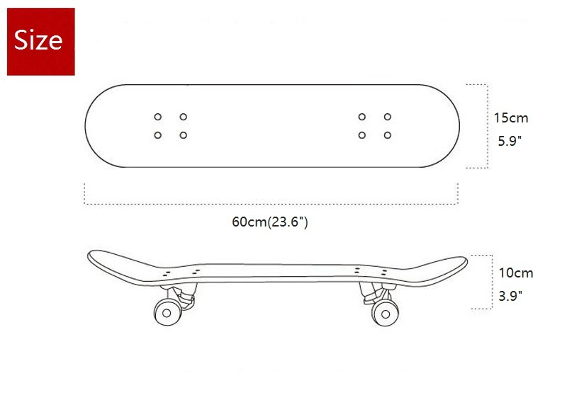 Wholesale 24inch cheap price chinese maple kids skateboard concave skate board customized