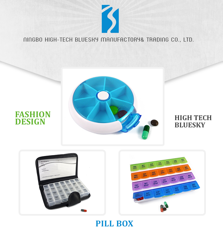 Customized logo pill case / monthly medicine box / monthly pill box