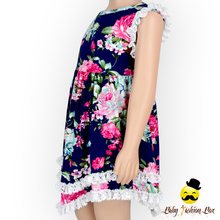Fancy Girls Summer Printed Flowers Lace Flutter Ruffle Dress Baby Frock Design Pictures