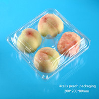high quality disposable blister clear pet/pvc/pp/ps plastic packing box with 4 compartments