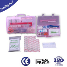 transparent plastic case first aid kit box with contents Manufactory meet FDA