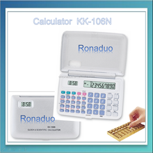 KK-106N Battery Power Source and General Purpose Calculator Style CALCULATOR WITH WORLD TIME