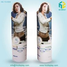 Custom printing film publicity 3d cardboard standees,retail display standee rack