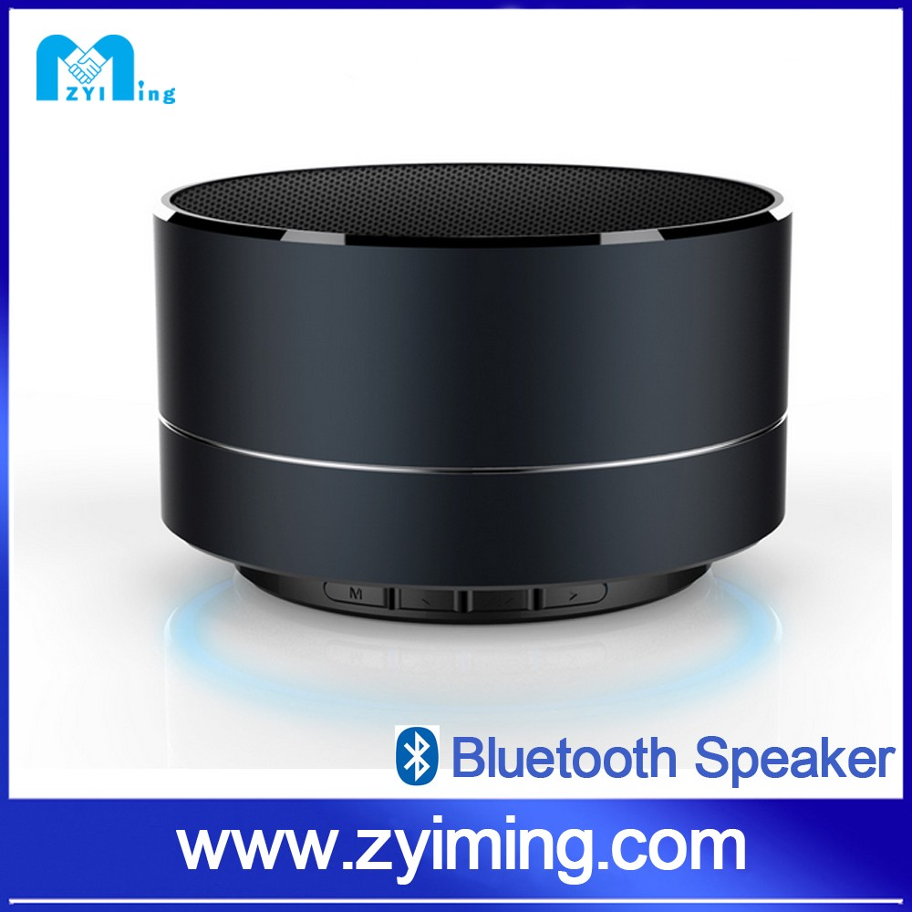 Zyiming Best products Wholesale generic electronics metal slim round bluetooth 2.1+EDR speaker for dj speaker box