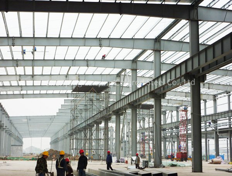 Factory house design manufacture from steel structure