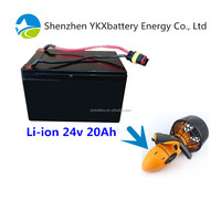 More strong endurance replacement battery pack 22.2v 20Ah used to replace Sea scooter battery 24v 6Ah with branded 18650 cell