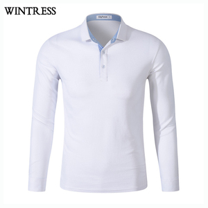 Wintress custom long sleeve silk polo t shirt custom man t-shirt,stone wash t shirt full sleeve with epaulettes