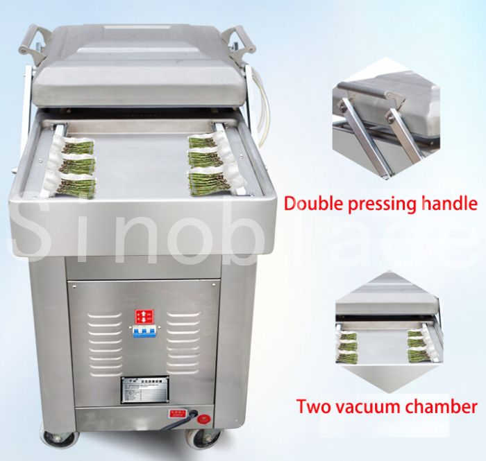 Leading Quality Vacuum Double Chamber Sealer Machine Sealing Packing Pack Equipment For Fresh Food
