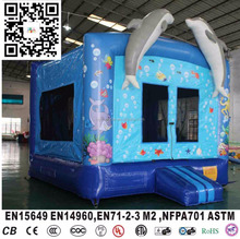 inflatable ocean sea dolphin bouncer jumps for kids party rental