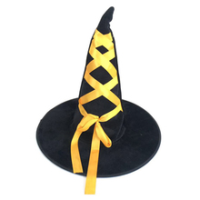 Cheapest black felt Halloween party witch hat costoms