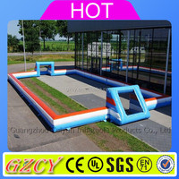 Airtight inflatable football pitch for outdoor sports competition