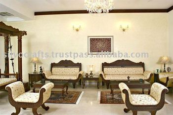 Royal Indian Rajasthani Jodhpur Hand Carved Teak Wooden Sofa sets & Sofa Chairs (Carved Furnitures by Classic Silvocrafts)