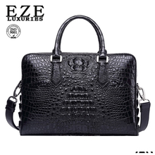 EZE new products wholesale men genuine crocodile skin leather handbag
