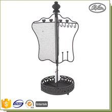 Customized Colorful Wire Metal Hanging Rotating Jewelry Rack