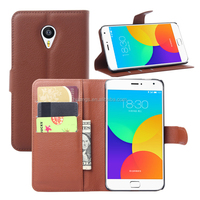 for meizu m4 pro case, Litchi Pattern With Credit Card Sltos Wallet Stand Flip Leather Case for Meizu M4 Pro