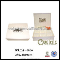 white finish with your logo wooden essential oil box