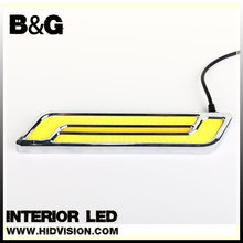 Waterproof Aluminum High Power 6W 6000K Xenon Slim COB LED DRL Daylight Driving Daytime Running Light for All Vehicles with 12V