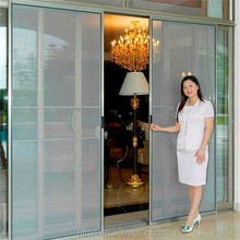Energy saving aluminum interior insect screen sliding door