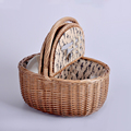 cheap handmade custom Wicker Crafts Storage Baskets with handles Picnic Baskets Fruit Baskets