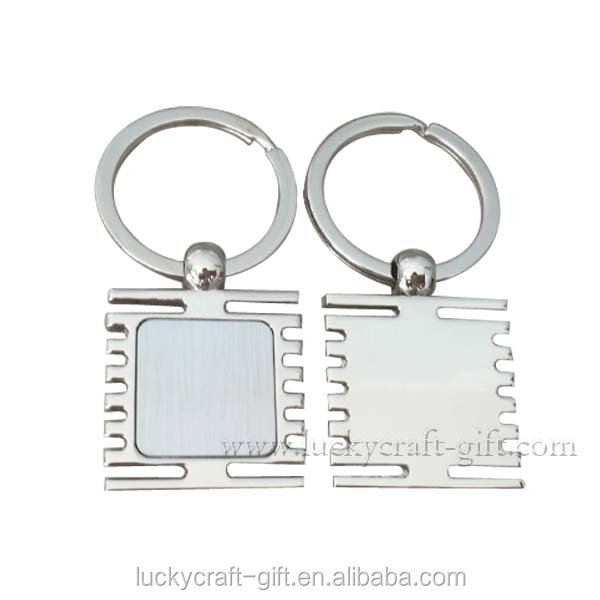 High quality cheap custom key chain promotional gifts souvenir blank metal keychains