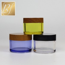 5g 10g 20g Empty clear PETG cosmetic plastic cream container with screw cap