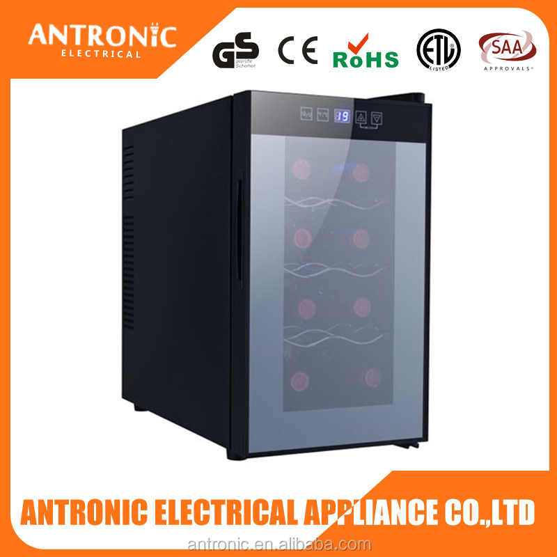 Antronic ATC-C25L flat tempered glass door 8 bottles wine cellar thermoelectric wine cellar with blue LED
