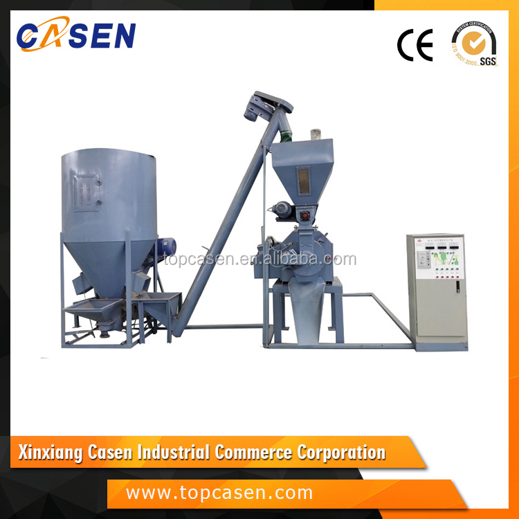 CE certification top quality animal chicken feed production line/ small feed pellet production line