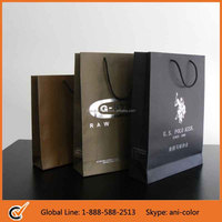 wholesale custom paper bag printing with gold foil stamp logo